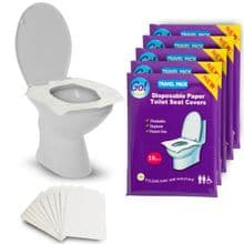 Go!Hygiene Pack of 10 Flushable Paper Toilet Seat Covers - Choose Quantity